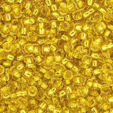 Gold Silver Lined Miyuki Seed Beads 15/0 Approx 22g TRC382