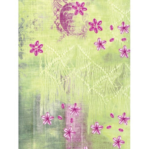 Decopatch Pink and Green Floral Paper 30x40cm 384