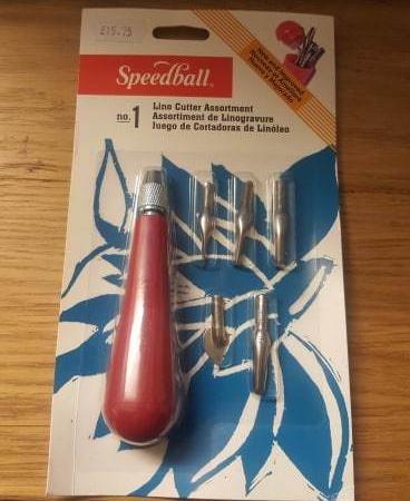 Speedball No. 1 Lino Cutter Assortment Handle and 5 Cutters