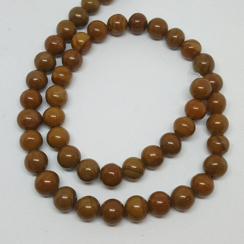 Wood Lace Stone Round Gemstone Beads 8mm Approx 45 Beads TRC430