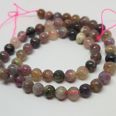 Natural Rose Quartz Faceted Round Beads Pink 8mm TRC161