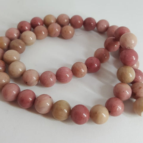 Natural Rhodonite Round Beads 8mm, approx 49pcs TRC439