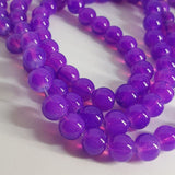 Baking Painted Glass Beads Imitation Opalite Round Blue Violet Beads 8mm approx 100pcs TRC437