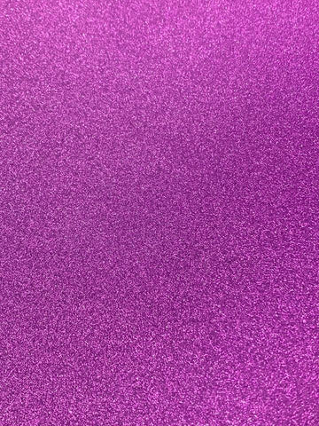 A4 Purple Non-shed Glitter Card