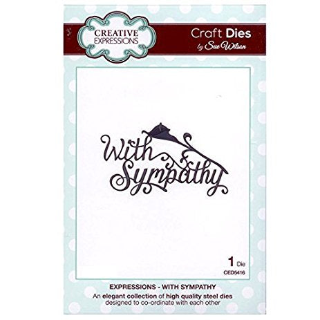 Expressions - With Sympathy CED5416 Creative Expressions Cutting Die