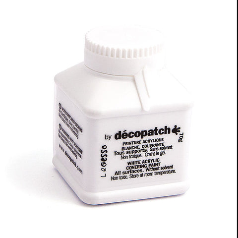 Decopatch White Acrylic Covering Paint Gesso 70g