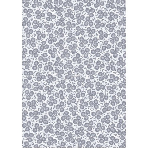 Decopatch Grey Floral Paper 30x40cm 648