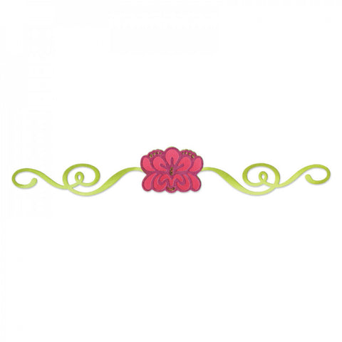 Flower Byrst with Ribbon Sizzlits Decorative Strip By Sizzix 657707