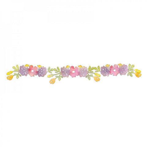 Flower Vine 2 Sizzlits Decorative Strip By Scrappy Cats Sizzix 658074