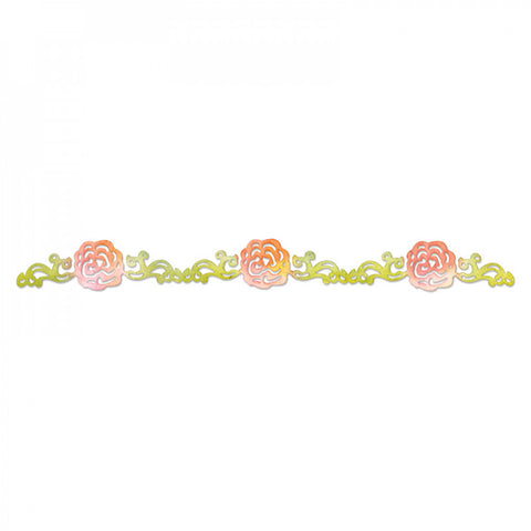 Flower Rose Vine Sizzlits Decorative Strip By Scrappy Cats Sizzix 658075