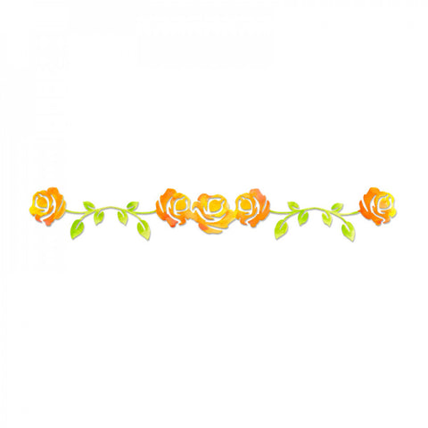 Rose Vine Sizzlits Decorative Strip By Scrappy Cats Sizzix 658512