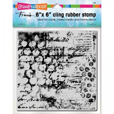 "Mixed Mesh 6"" x 6"" cling rubber stamp By Stampendous 6CR005"