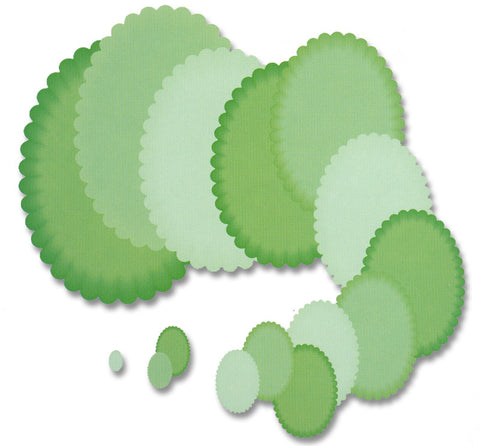 Presscut - Smaller Scalloped Oval Nesting Dies (15pcs) PCD79