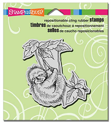 Cling Sloth Swing Stampendous Fran's Cling Rubber Stamps CRQ234
