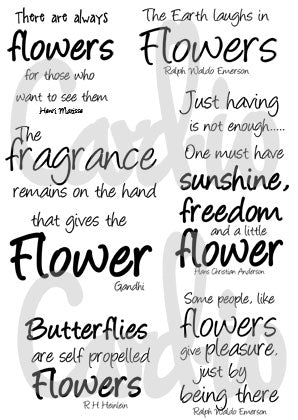 Say It With Flowers Sentiments Clear Stamp Set By Card-io CCSTSAY-01