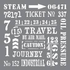 Industrial Elements Mixed Media Stencil Andy Skinner Decoart ANDY0107
