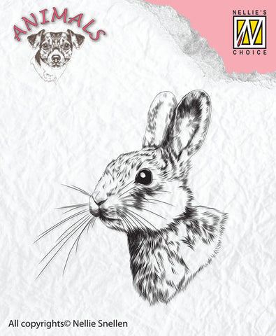 Rabbit Clear Stamp by Nellie Snellen ANI015