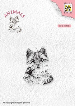 Pussycat Anilamls Stamp by Nellie Snellen Nellies Choice ANI021
