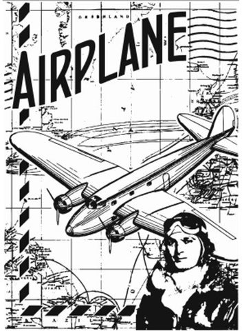AirPlane Background Clear Stamp By Sharon Callis SCCSA6015
