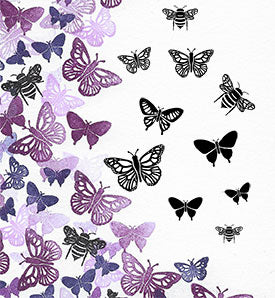 Bees and Butterflies Majestix Clear Peg Stamp Set By Card-io CDMABE-03