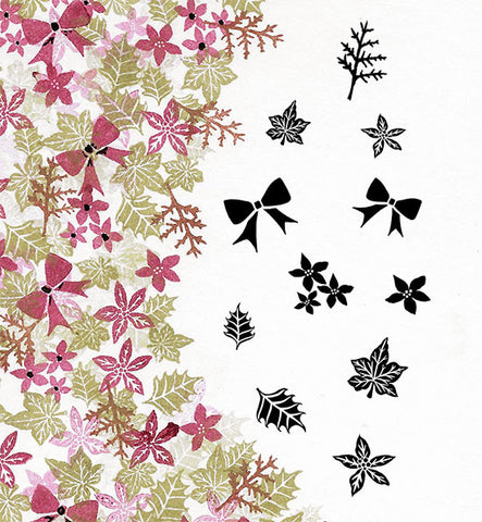 Bijou Blooms Majestix Clear Peg Stamp Set By Card-io CDMABIJ-01