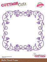 CottageCutz Dies - Bella Floral Frame (Elites)