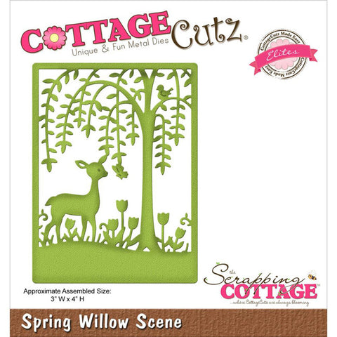 CottageCutz Elites Die - Spring Willow Scene