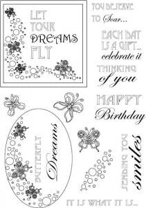 Butterfly Dreams Elements Clear Stamp Set CEC713 John Lockwood