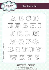 Stitched Letters Clear Stamp Set By Creative Expressions CEC761