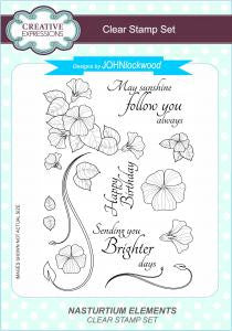 Nasturtium Elements Clear Stamp Set John Lockwood