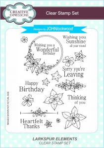 Larkspur Elements A5 Clear Stamp Set John Lockwood