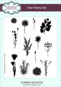 Summer Meadow A5 Clear Stamp Set