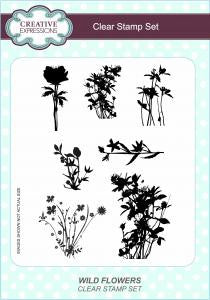 Wild Flowers A5 Clear Stamp Set By Creative Expressions