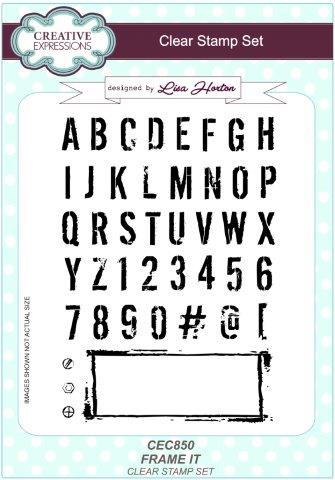 Frame It A5 Clear Stamp Set By Creative Expressions CEC850