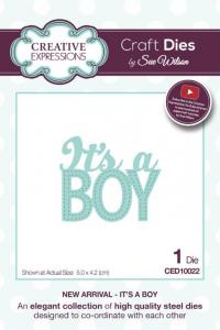Its a Boy New Arrival Collection Die CED10022 By Sue Wilson Creative Expressions