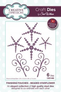 Beaded Starflower Finishing Touches Collection By Sue Wilson Creative Expressions CED1466