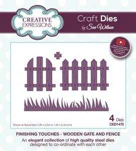 Wooden Gate and Fence Finishing Touches Collection By Sue Wilson Creative Expressions CED1470