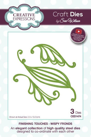 Wispy Fronds Finishing Touches by Sue Wilson Creative Expressions CED1474