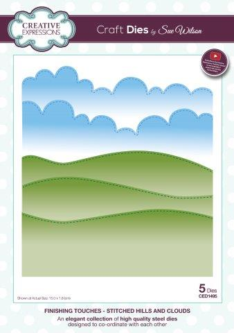Stitched Hills and Clouds Finishing Touches Collection Craft Die By Sue Wilson Creative Expressions CED1495