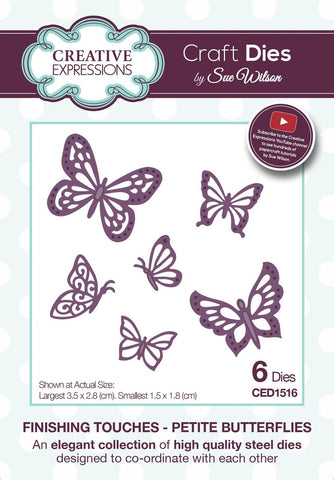 Finishing Touches Petite Butterflies Die CED1516 By Creative Expressions