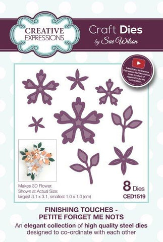 Petite Forget Me Nots Finishing Touches Collection By Sue Wilson Creative Expressions CED1519