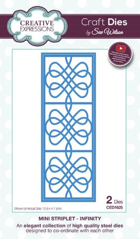Infinity Mini Striplet Collection Die By Sue Wilson Creative Expressions CED1625