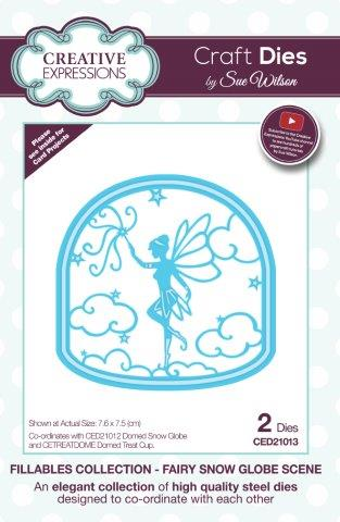 Fairy Snow Globe Scene Fillables Collection Dies Sue Wilson Creative Expressions CED21013