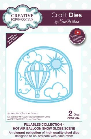Fillables - Hot Air Balloon Snow Globe Scene CED21014 Creative Expressions Cutting Die Sue Wilson