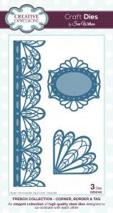 French Collection Corner, Border & Tags CED2102