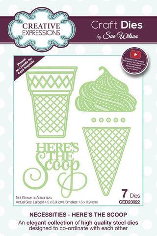 Necessities Collection Here's The Scoop Die CED23022 By Creative Expressions