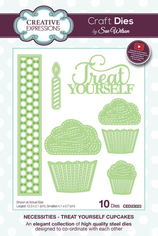 Necessities Collection Treat Yourself Cupcakes Die CED23023 By Creative Expressions