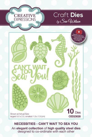 Can't Wait to Sea You Necessities Collection by Sue Wilson Creative Expressions CED23028