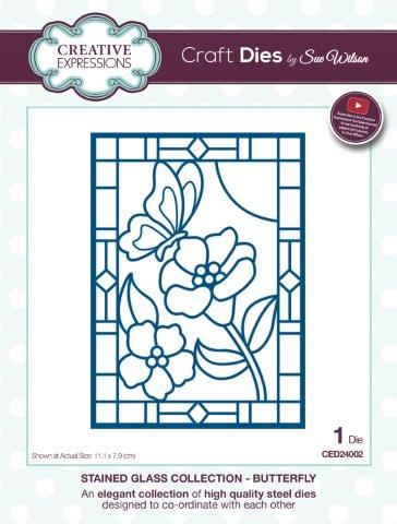 Butterfly Stained Glass Collection Die By Sue Wilson Creative Expressions CED24002