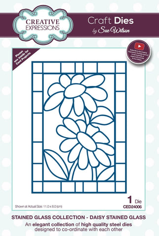Daisy Stained Glass Stained Glass Collection Die By Sue Wilson Creative Expressions CED24006